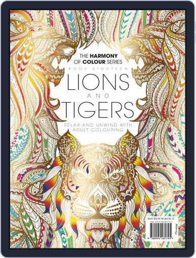 Colouring Book: Lions and Tigers June 1st, 2017 Digital Back Issue Cover