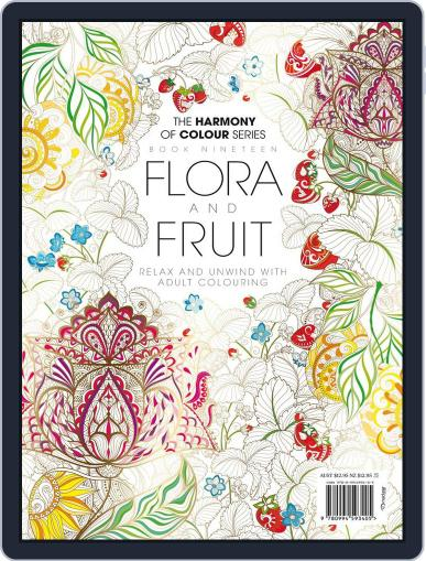 Colouring Book: Flora and Fruit June 1st, 2017 Digital Back Issue Cover