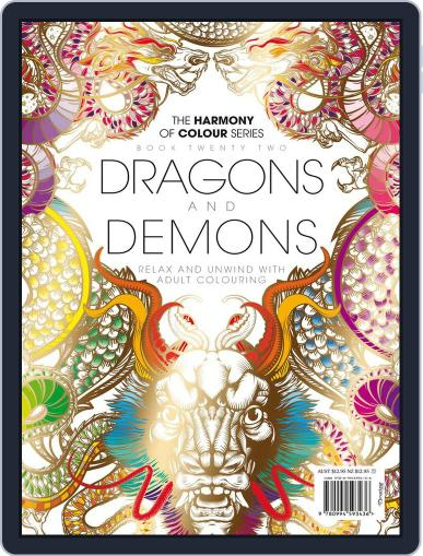 Colouring Book: Dragons and Demons Magazine (Digital) June 1st, 2017 Issue Cover