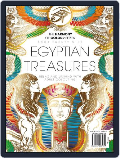 Colouring Book: Egyptian Treasures Magazine (Digital) June 1st, 2017 Issue Cover