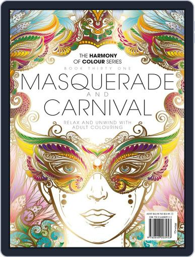 Colouring Book: Masquerade and Carnival Magazine (Digital) June 1st, 2017 Issue Cover