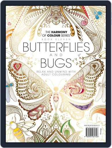 Colouring Book: Butterflies and Bugs Magazine (Digital) June 1st, 2017 Issue Cover