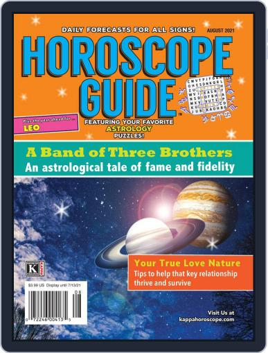 Horoscope Guide Magazine (Digital) August 1st, 2021 Issue Cover