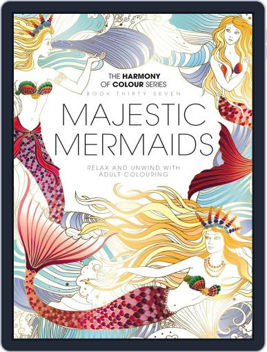 Colouring Book: Magestic Mermaids November 22nd, 2017 Digital Back Issue Cover
