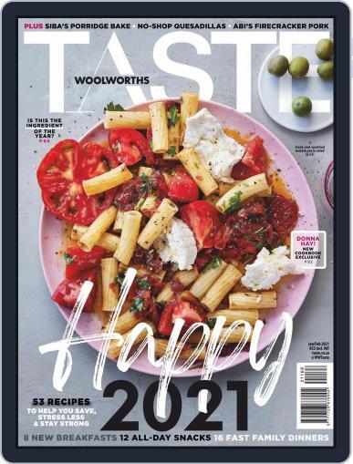 Woolworths TASTE Magazine (Digital) January 1st, 2021 Issue Cover
