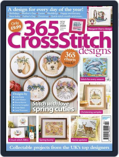 365 Cross Stitch Designs February 13th, 2020 Digital Back Issue Cover