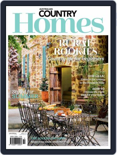Australian Country Homes Magazine (Digital) January 1st, 2021 Issue Cover