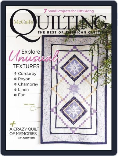 McCall's Quilting Magazine (Digital) November 1st, 2020 Issue Cover