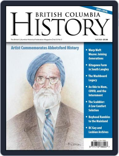 British Columbia History Magazine (Digital) September 1st, 2020 Issue Cover