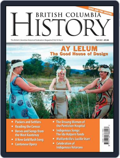 British Columbia History Magazine (Digital) September 1st, 2021 Issue Cover