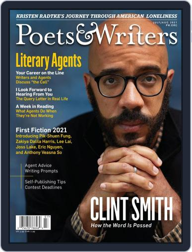 Poets & Writers Digital Magazine July 1st, 2021 Issue Cover