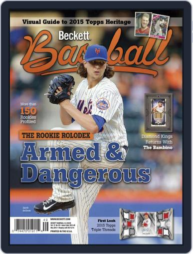 Beckett Baseball Digital Magazine May 1st, 2015 Issue Cover