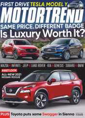 Motor Trend Magazine Subscription August 1st, 2020 Issue