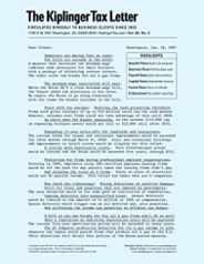 Kiplinger's Tax Letter Magazine Subscription