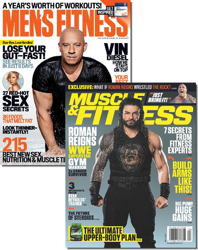 Men's Fitness & Muscle & Fitness Bundle