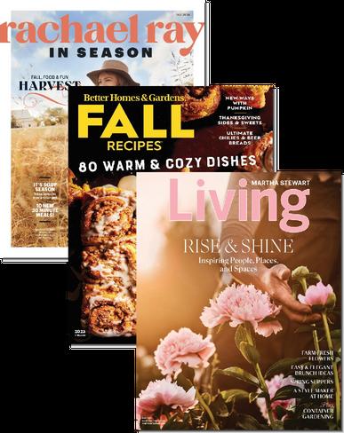 Rachael Ray Everyday, Better Homes & Gardens & Martha Stewart