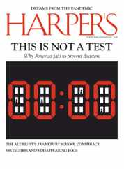 Harpers Magazine Subscription July 1st, 2020 Issue