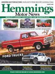 Hemmings Motor News Magazine Subscription August 1st, 2020 Issue