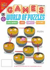 Games World of Puzzles Magazine Subscription September 1st, 2020 Issue