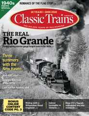 Classic Trains Magazine Subscription May 4th, 2020 Issue