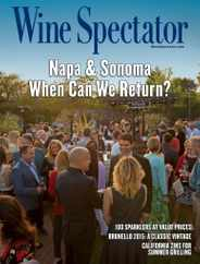 Wine Spectator Magazine Subscription June 15th, 2020 Issue