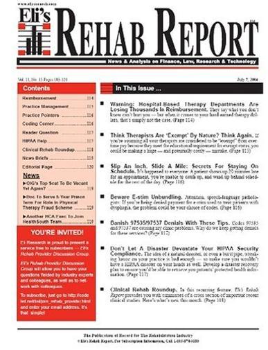 Rehab Report