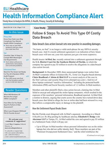 Health Information Compliance Alert