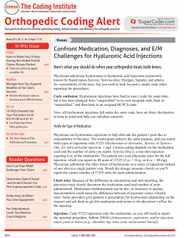 Orthopedic Coding Alert Magazine Subscription