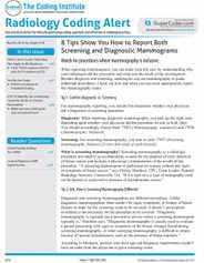 Radiology Coding Alert Magazine Subscription