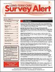 Long Term Care Survey Alert Magazine Subscription