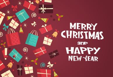 Merry Christmas & Happy New Year Postcard Cover