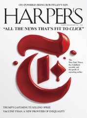 Harpers Magazine Subscription May 1st, 2021 Issue