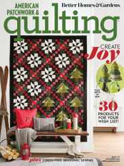 American Patchwork & Quilting Magazine Subscription December 1st, 2021 Issue