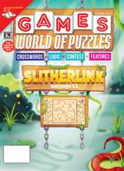 Games World of Puzzles Magazine Subscription October 1st, 2020 Issue