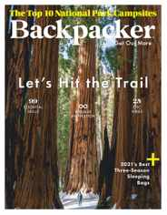Backpacker Magazine Subscription January 1st, 2021 Issue