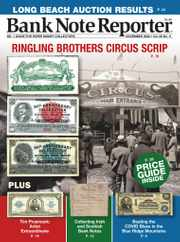 Banknote Reporter Magazine Subscription November 1st, 2020 Issue