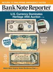Banknote Reporter Magazine Subscription September 1st, 2020 Issue