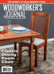 Woodworker's Journal Magazine Subscription August 1st, 2021 Issue