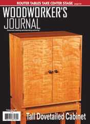 Woodworker's Journal Magazine Subscription February 1st, 2021 Issue