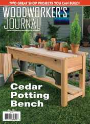 Woodworker's Journal Magazine Subscription June 1st, 2021 Issue
