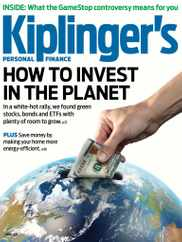 Kiplinger's Personal Finance Magazine Subscription April 1st, 2021 Issue