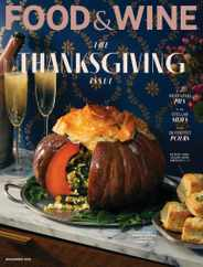 Food & Wine Magazine Subscription November 1st, 2021 Issue