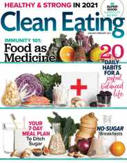 Clean Eating Magazine Subscription January 1st, 2021 Issue