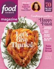 Food Network Magazine Subscription November 1st, 2020 Issue