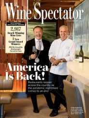 Wine Spectator Magazine Subscription August 31st, 2021 Issue