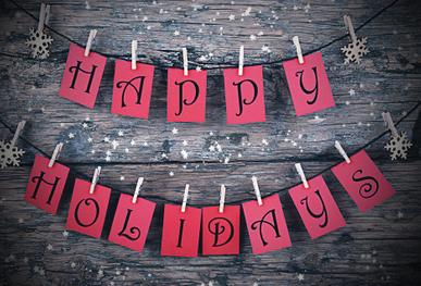 Happy Holidays Postcard Cover